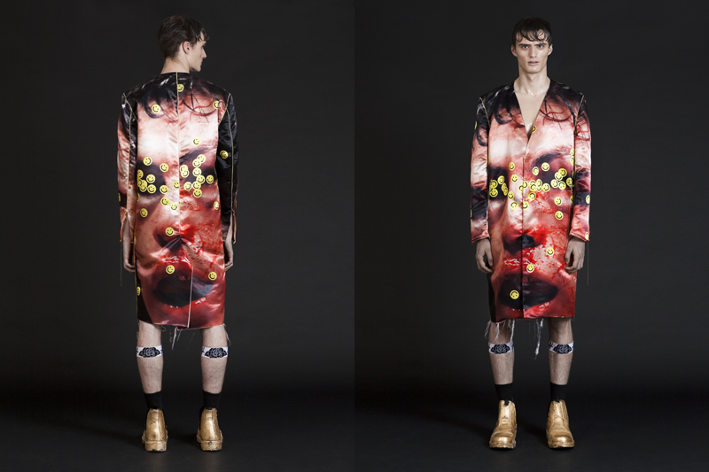 Benji Wzw spring/summer 2015: roses drowning in a molotov cocktail