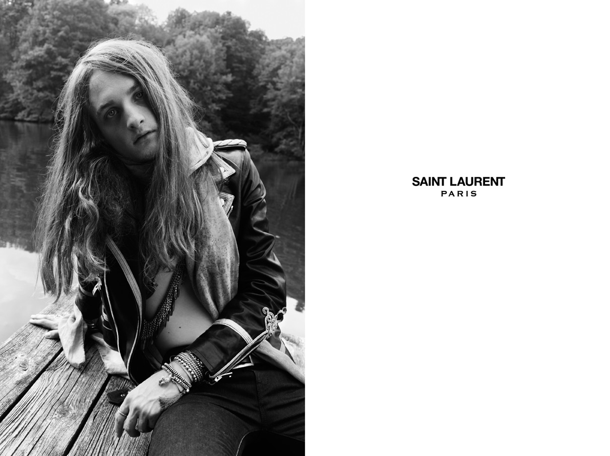 Saint Laurent Men's and Women Psych Rock Collection Spring Summer 2015 (12)