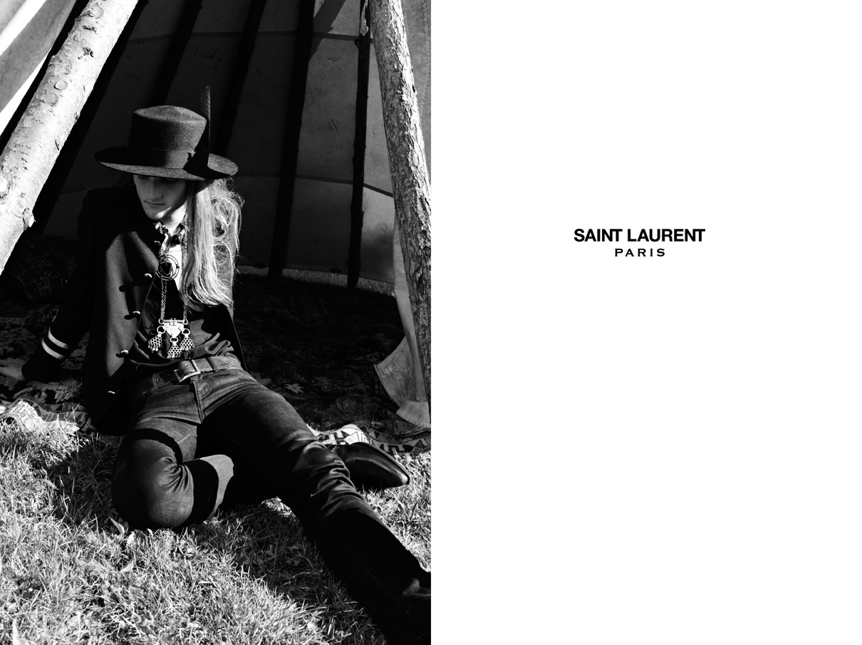 Saint Laurent Men's and Women Psych Rock Collection Spring Summer 2015 (13)