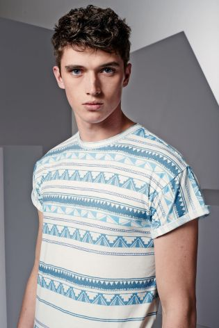 Matthew Holt models contemporary t-shirts for Next