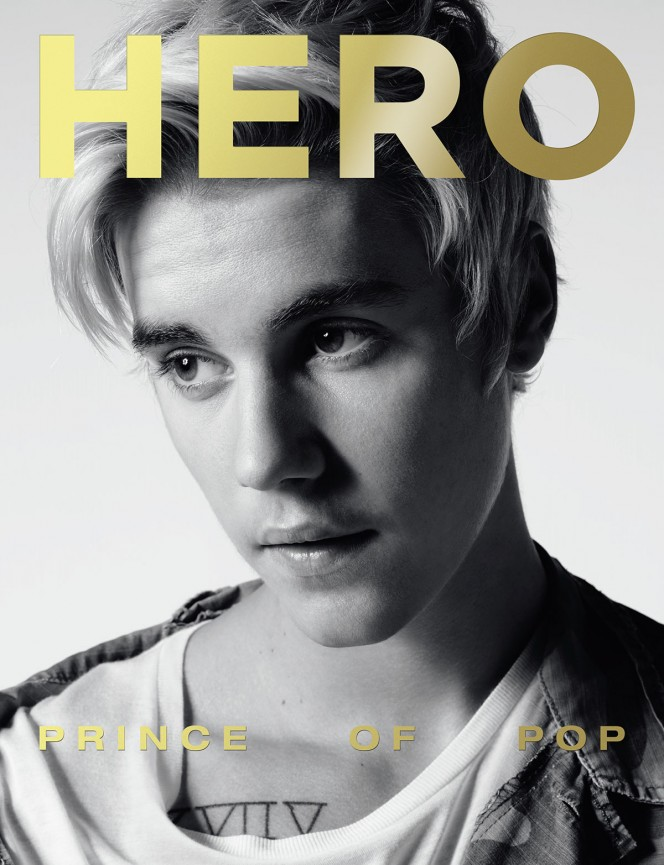Justin Bieber Covers HERO Latest Issue