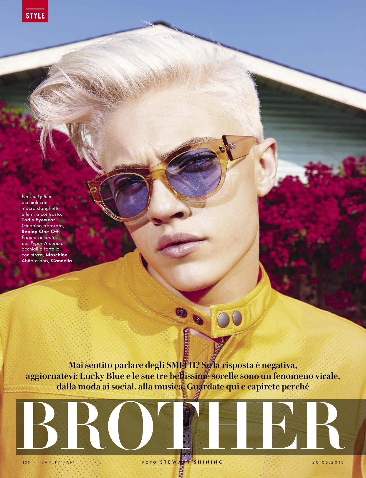 """Lucky Blue Smith """"Brother & Sisters"""" for Vanity Fair Italia Lucky Blue Smith """"Brother & Sisters"""" for Vanity Fair Italia Vanity Teen 虚荣青年 Menswear & new faces magazine"""