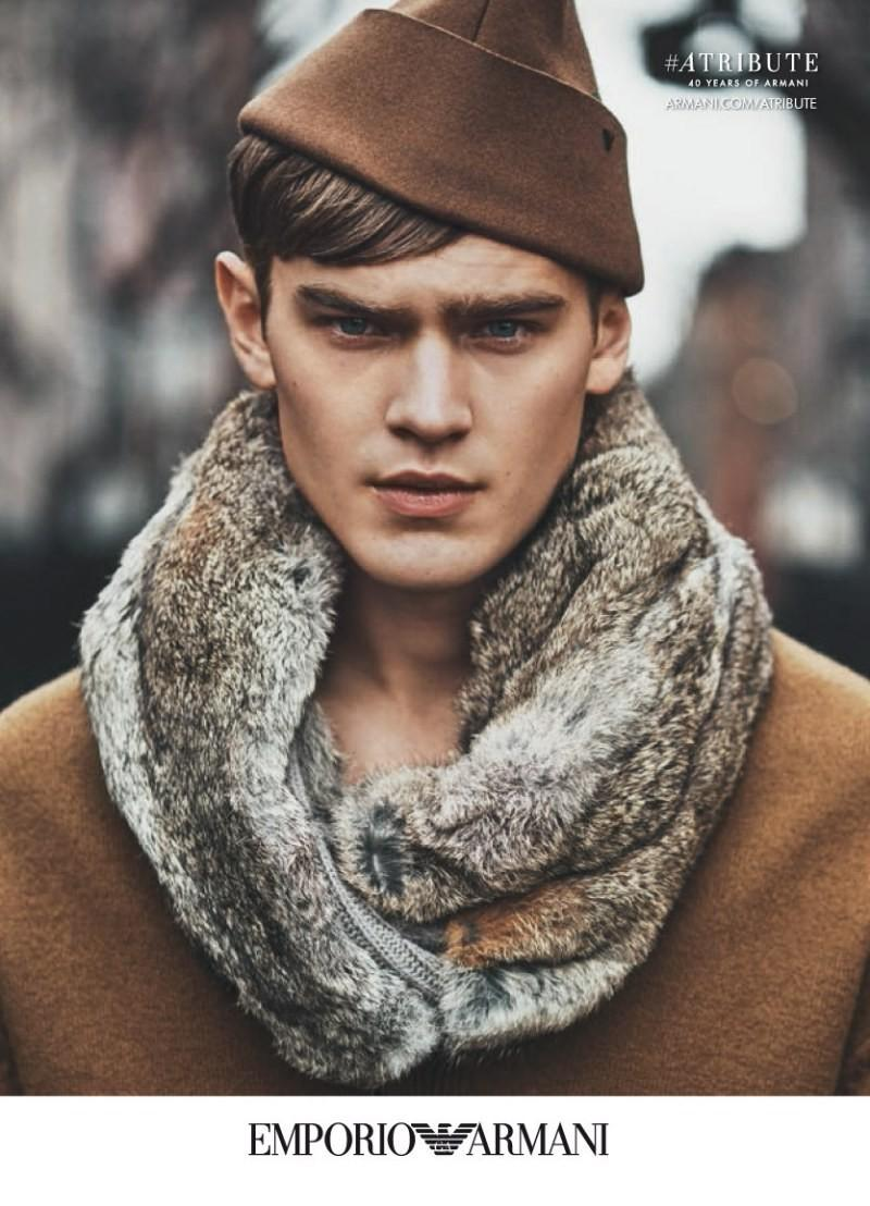 Bo Develius for Emporio Armani F/W 2015