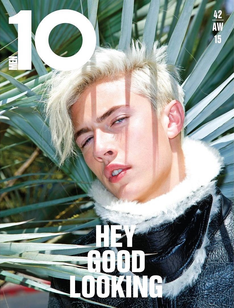 Lucky Blue Smith 10 Men Magazine FW 15 Cover by Magnus Unnar