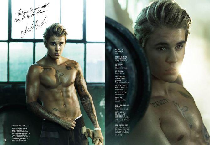 Justin Bieber for Cosmopolitan Magazine