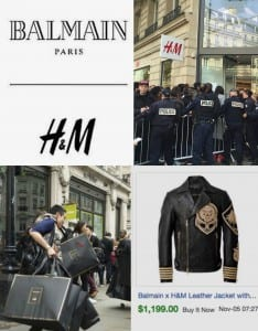 Chaos at the H&M Launch by Balmain