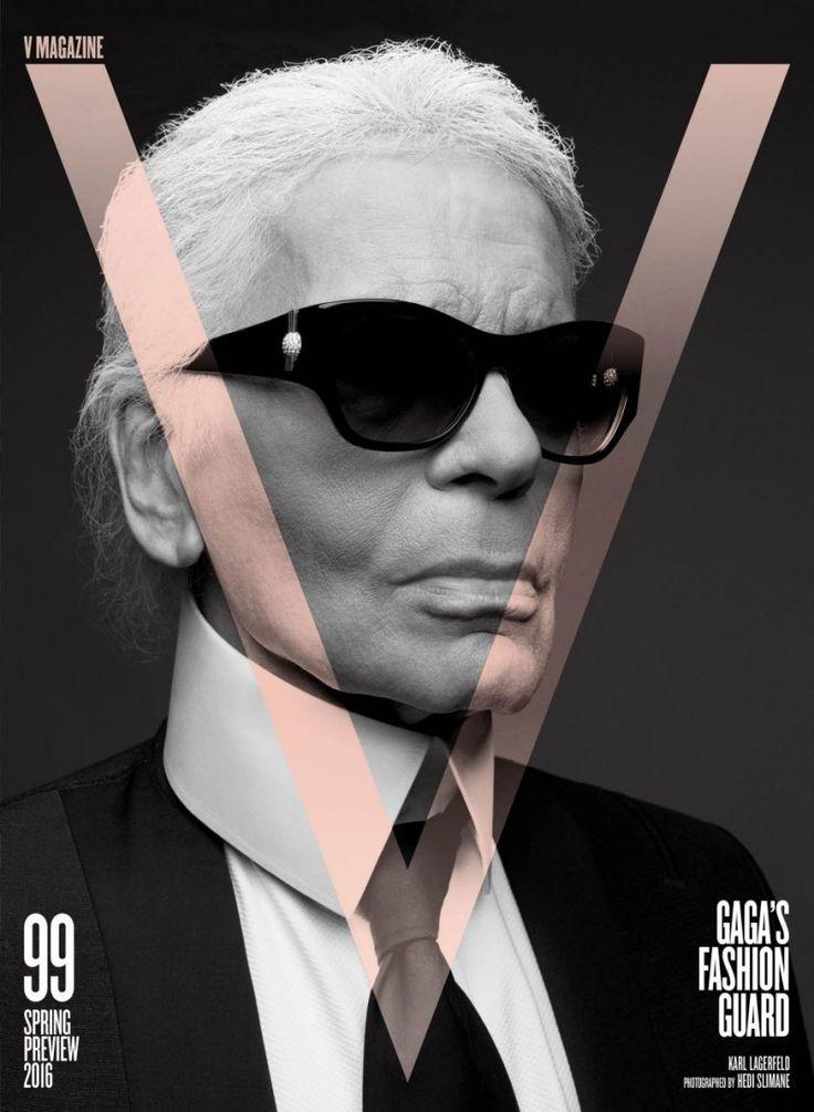 Karl Lagerfeld & Hedi Slimane For V Magazine 99 (2)