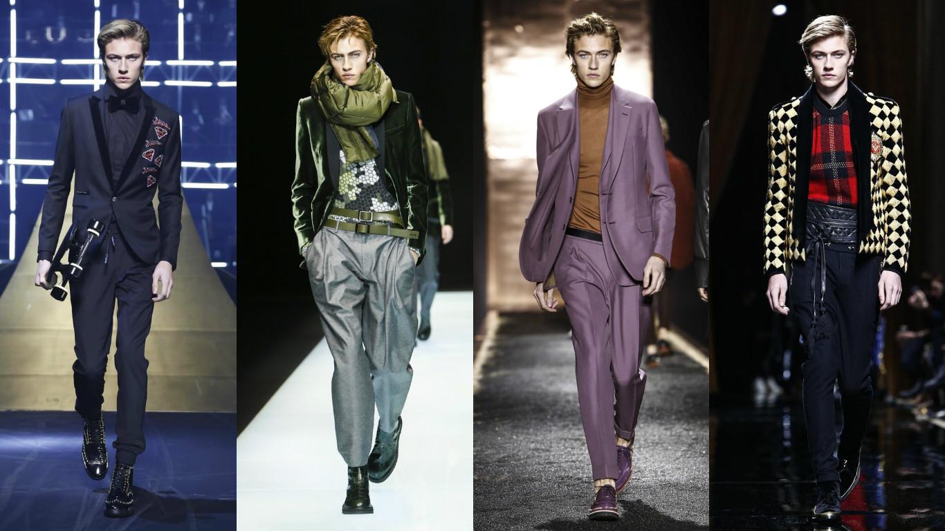 Lucky Blue Smith At Milan & Paris Fashion Weeks