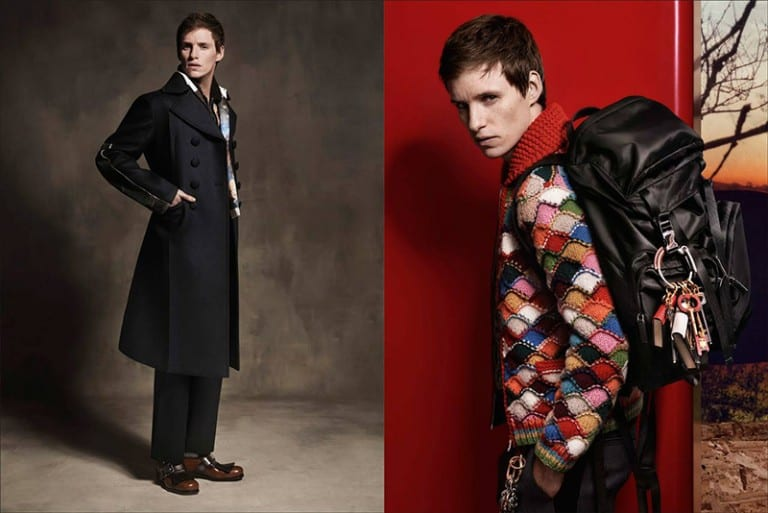 Eddie Redmayne for Prada FW16