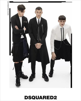 Filip Hrivnak, Chun Soot & Victor Perr for Dsquared2 FW16.17