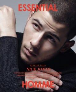 Nick Jonas covers Essential Homme