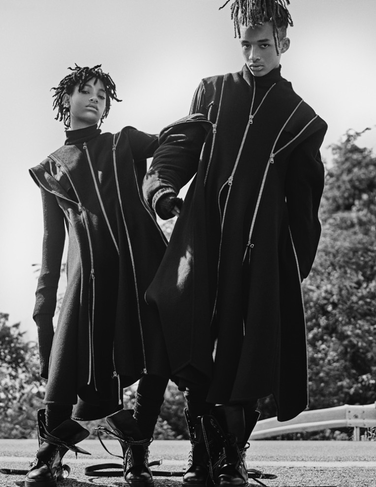 Interview Magazine presents September 2016 Issue with Willow and Jaden Smith photography by Steven Klein styled by Karl Templer