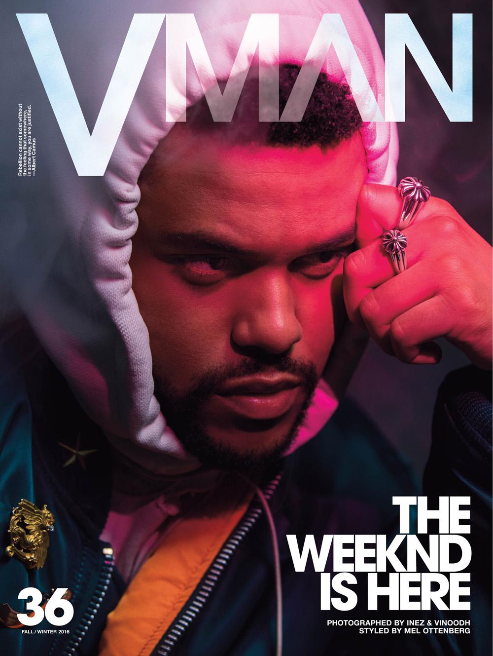 VMan #36 Fall/Winter 2016 : The Weeknd by Inez & Vinoodh