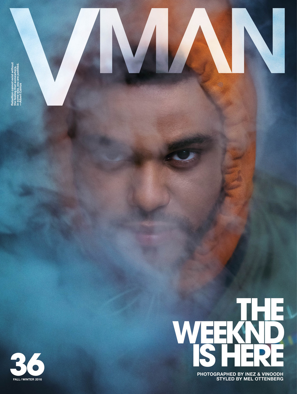 VMan #36 Fall/Winter 2016 : The Weeknd by Inez & Vinoodh