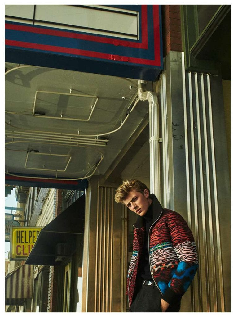 Lucky Blue Smith + The Atomics for H&M Magazine