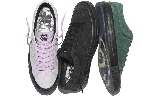 New Suede Converse Sneakers by Stüssy