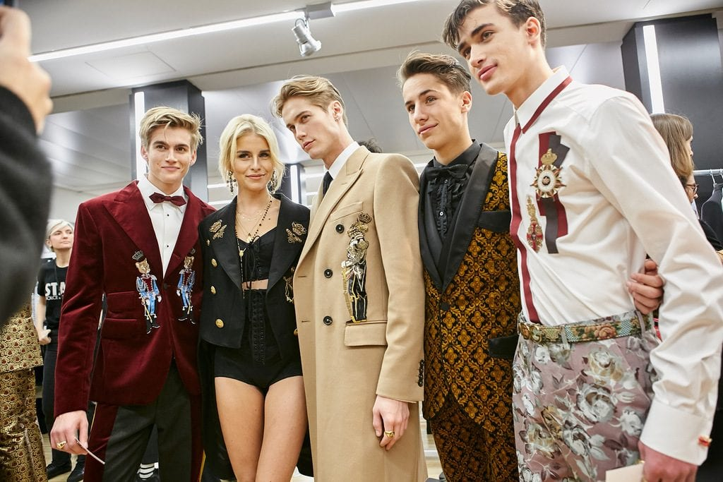 Dolce & Gabbana Fall Winter 2017.18 Backstage show Dolce & Gabbana Fall Winter 2017.18 Backstage show Vanity Teen 虚荣青年 Menswear & new faces magazine