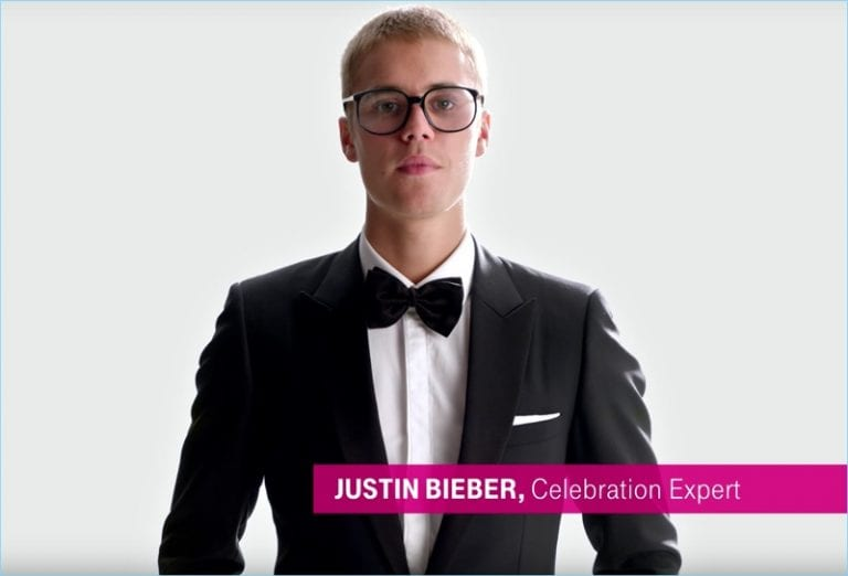 Justin Bieber for T-Mobile commercial