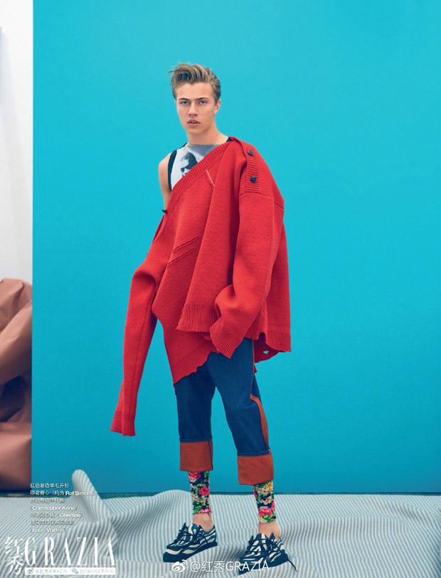 Lucky Blue Smith for Grazia China  Lucky Blue Smith for Grazia China Vanity Teen Menswear & new faces magazine