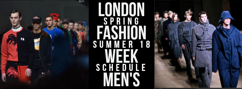 London Fashion Week Men S Schedule Vanity Teen