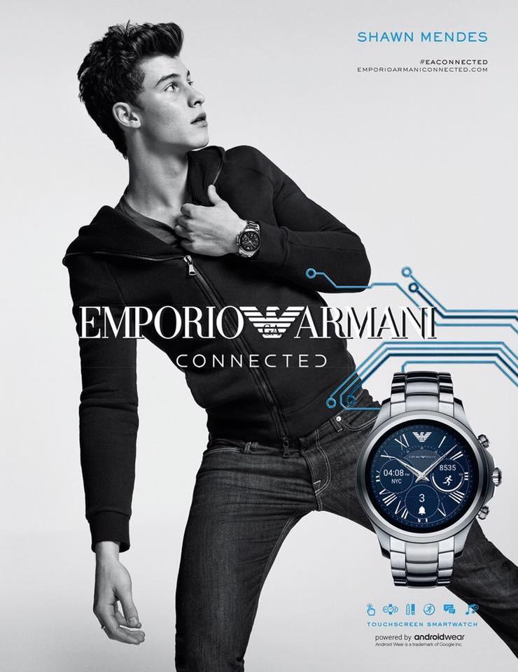 Shawn Mendes Starts in Emporio Armani ''Connected ...