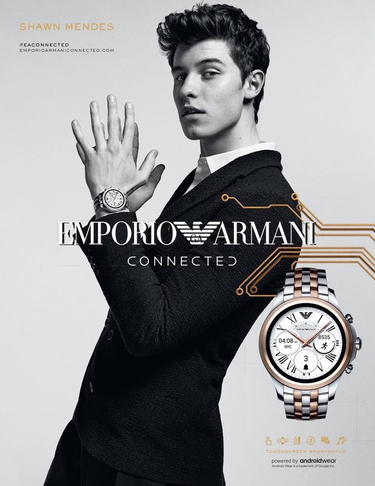 "Shawn Mendes Starts in Emporio Armani ""Connected"" Campaign"