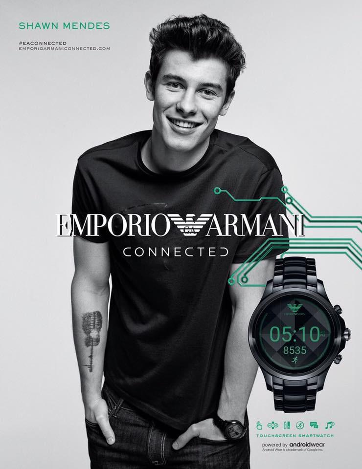 shawn mendes starts in emporio armani connected