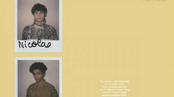 VT SS17: Etienne, Jeremie & Nicolas by Yuji Watanabe  VT SS17: Etienne, Jeremie & Nicolas by Yuji Watanabe Vanity Teen Menswear & new faces magazine