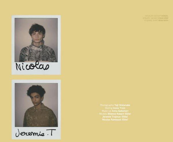VT SS17: Etienne, Jeremie & Nicolas by Yuji Watanabe VT SS17: Etienne, Jeremie & Nicolas by Yuji Watanabe Vanity Teen 虚荣青年 Menswear & new faces magazine