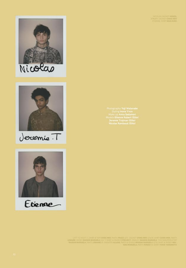 VT SS17: Etienne, Jeremie & Nicolas by Yuji Watanabe