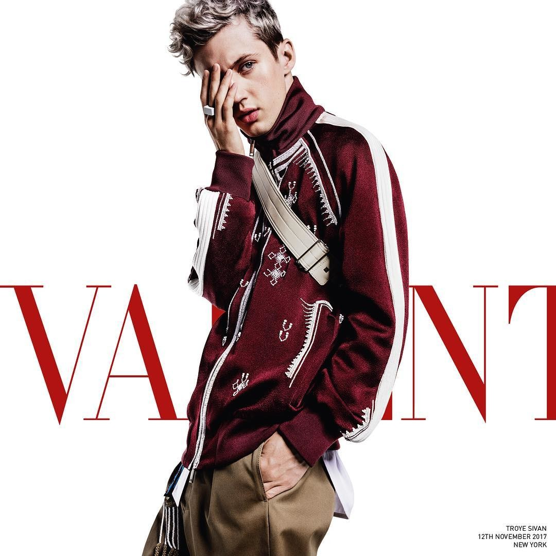 Valentino Men's S/S 2018 Ad Campaign ft. Troye Sivan  Valentino Men's S/S 2018 Ad Campaign ft. Troye Sivan Vanity Teen Menswear & new faces magazine