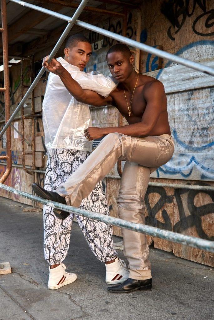 o Jacket - Helmut Lang o Silk Jeans - Y/Project o White Harem Pants - Nigerian Vintage