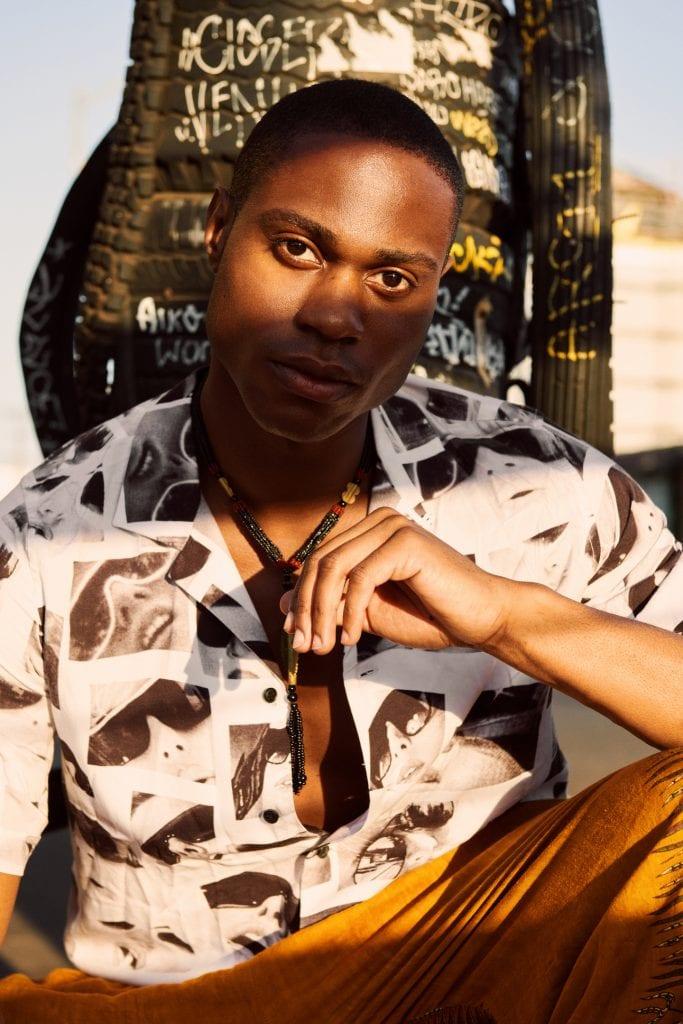 Sedation eyes shirt - Ksubi Pants - Nigerian Vintage Necklace - Nigerian Vintage