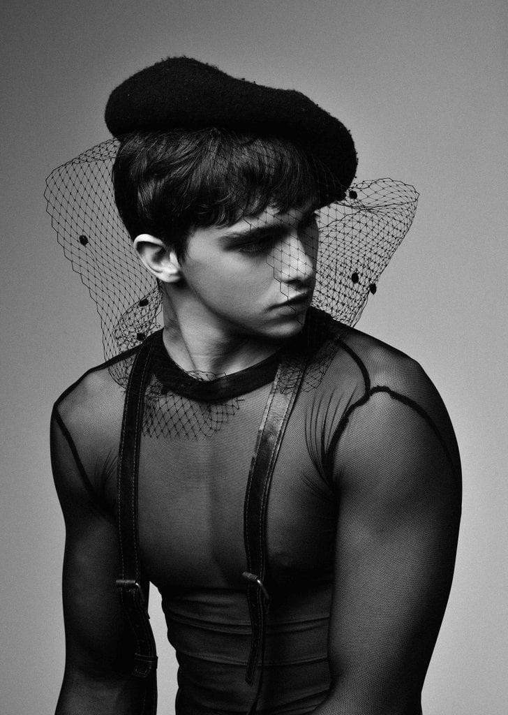 beret. Vintage  Shirt. Privet collection  harness. Tal Glaserman