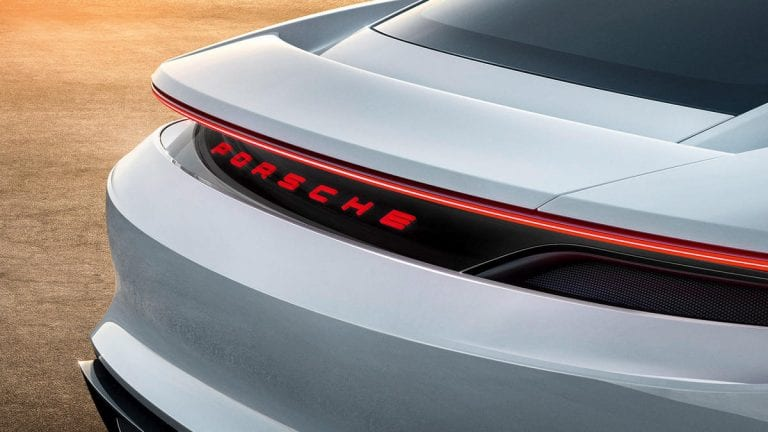 Porsche unveiled the concept of an electric car