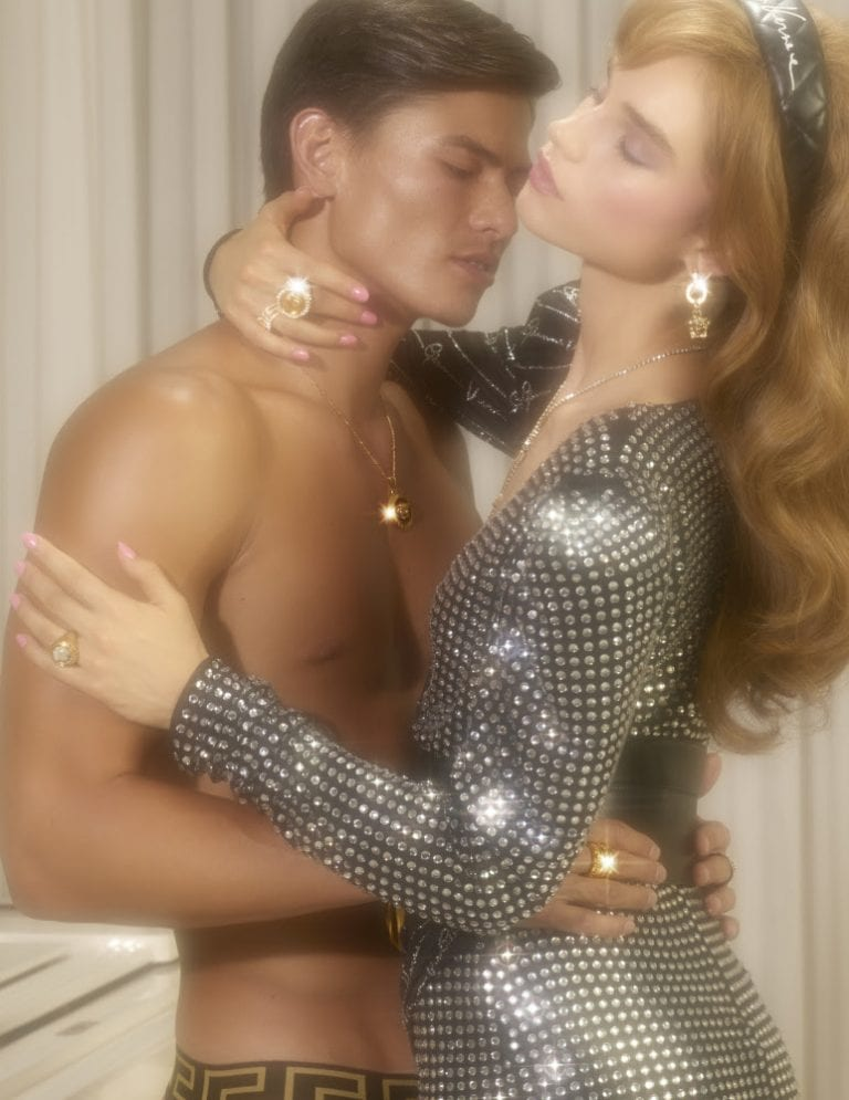 Simonas Pham for Versace Holiday Campaign