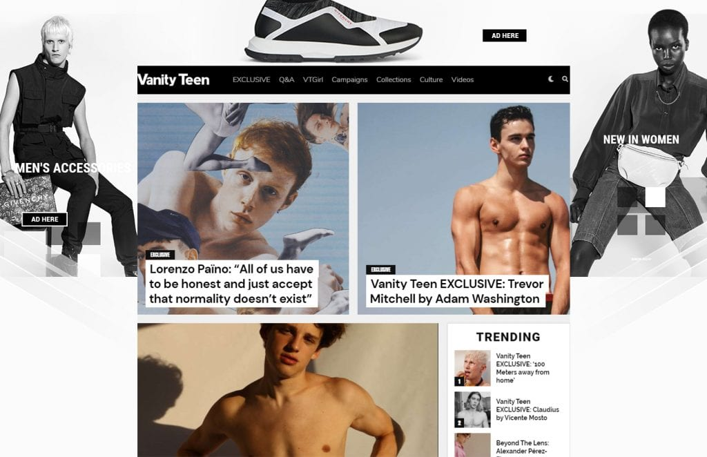 Advertising / MEDIA KIT 2020  Advertising / MEDIA KIT 2020 Vanity Teen Menswear & new faces magazine