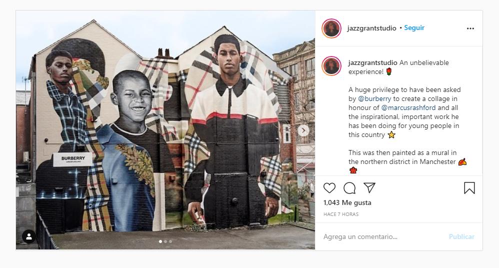 Burberry honored Marcus Rashford with a painted mural in Manchester Burberry honored Marcus Rashford with a painted mural in Manchester Vanity Teen 虚荣青年 Menswear & new faces magazine