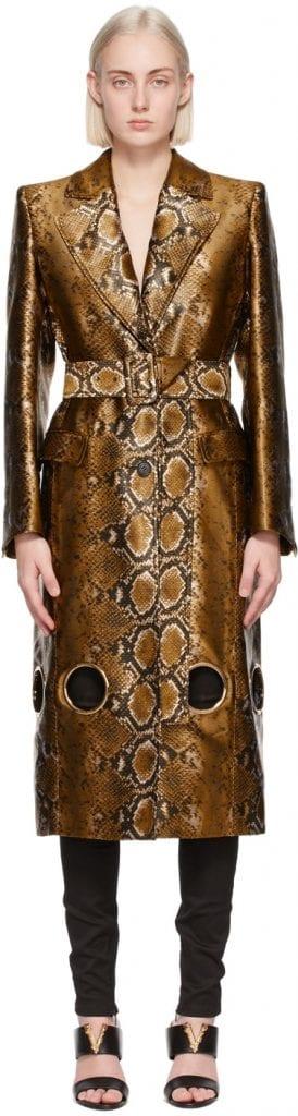 Like a Million Dollars: Versace Gold Python Cut-Out Coat Like a Million Dollars: Versace Gold Python Cut-Out Coat Vanity Teen 虚荣青年 Menswear & new faces magazine