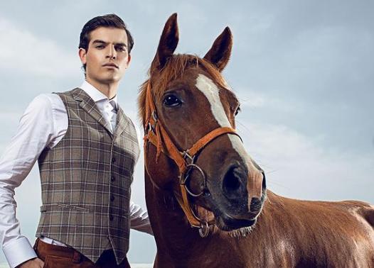 William de Hass and horse
