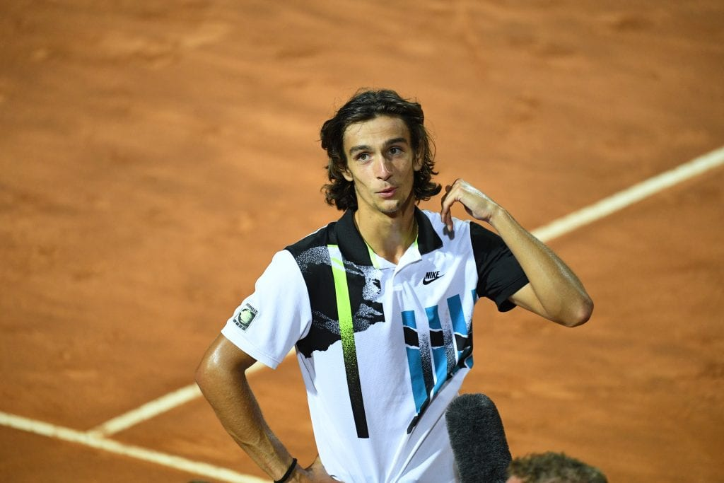 Lorenzo Musetti by Peter Staples / ATP Tour