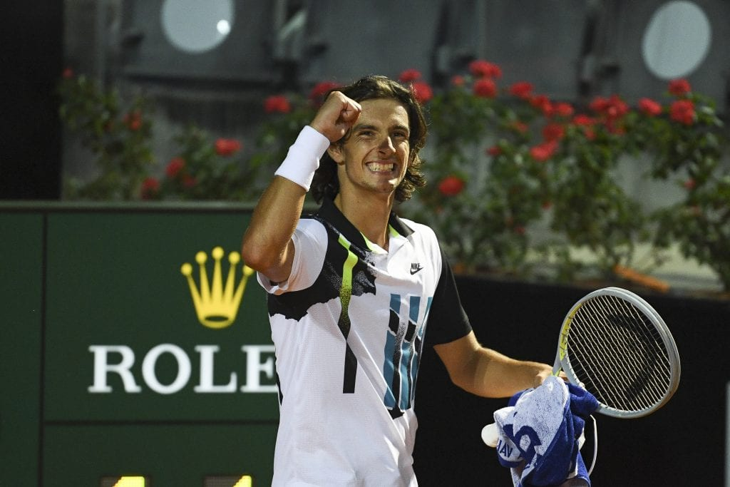 Lorenzo Musetti smiling by Peter Staples / ATP Tour