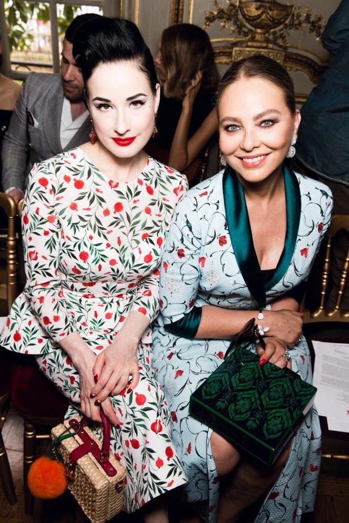 Dita von Teese and Ulyana Sergeenko