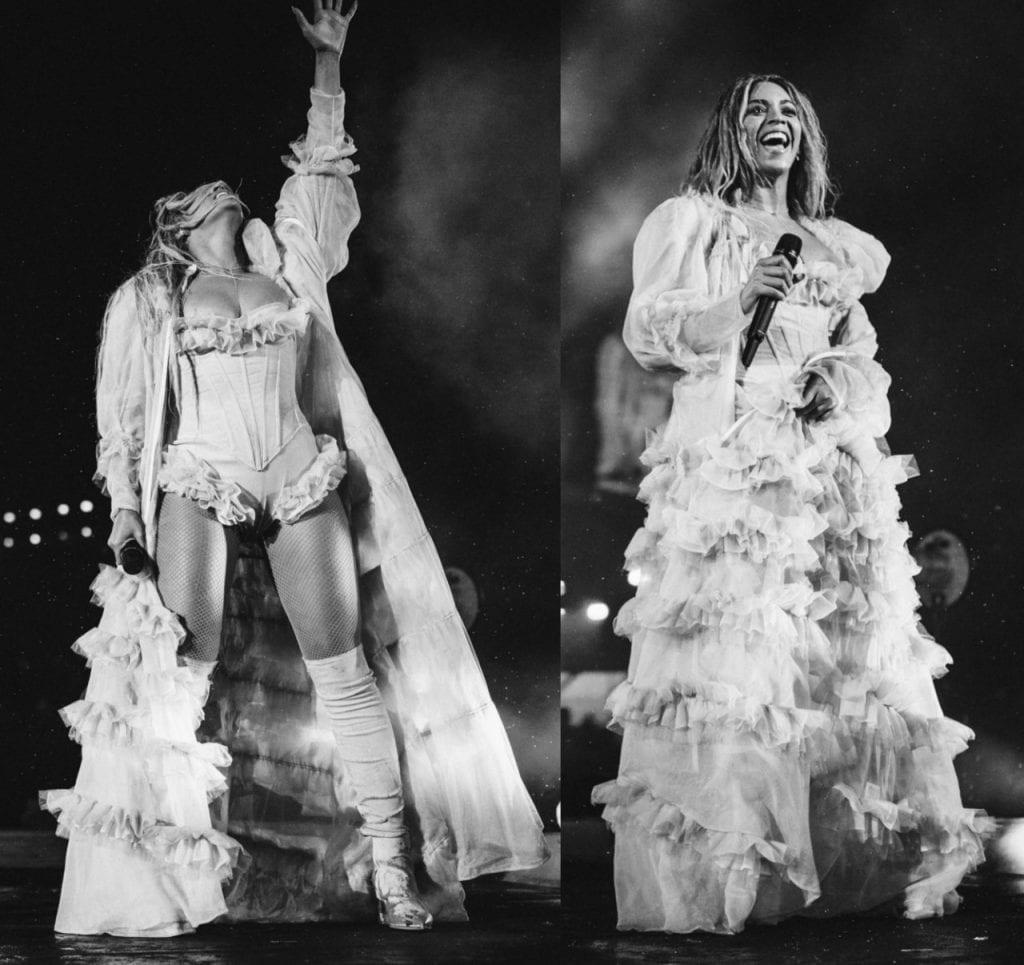 Beyoncé wearing Ulyana Sergeenko