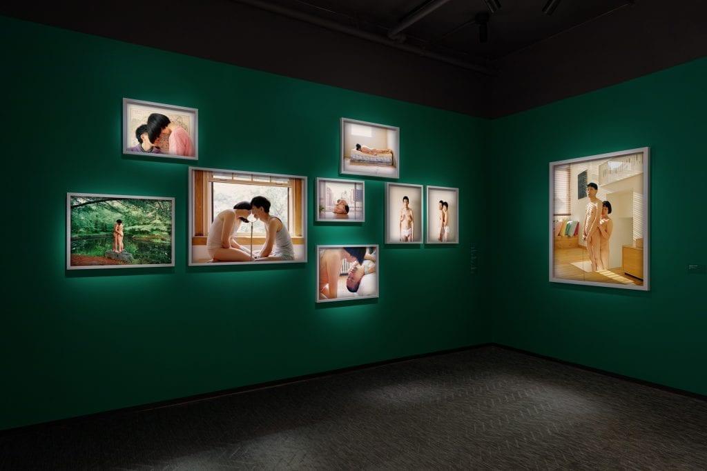 Installation view of Pixy Liao: Your Gaze Belongs to Me. Courtesy ©Fotografiska New York. Photo: ©Charles Benton 2021