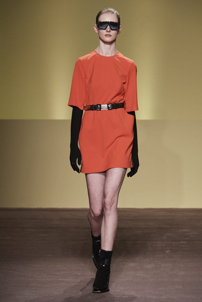 THEFOUR orange dress