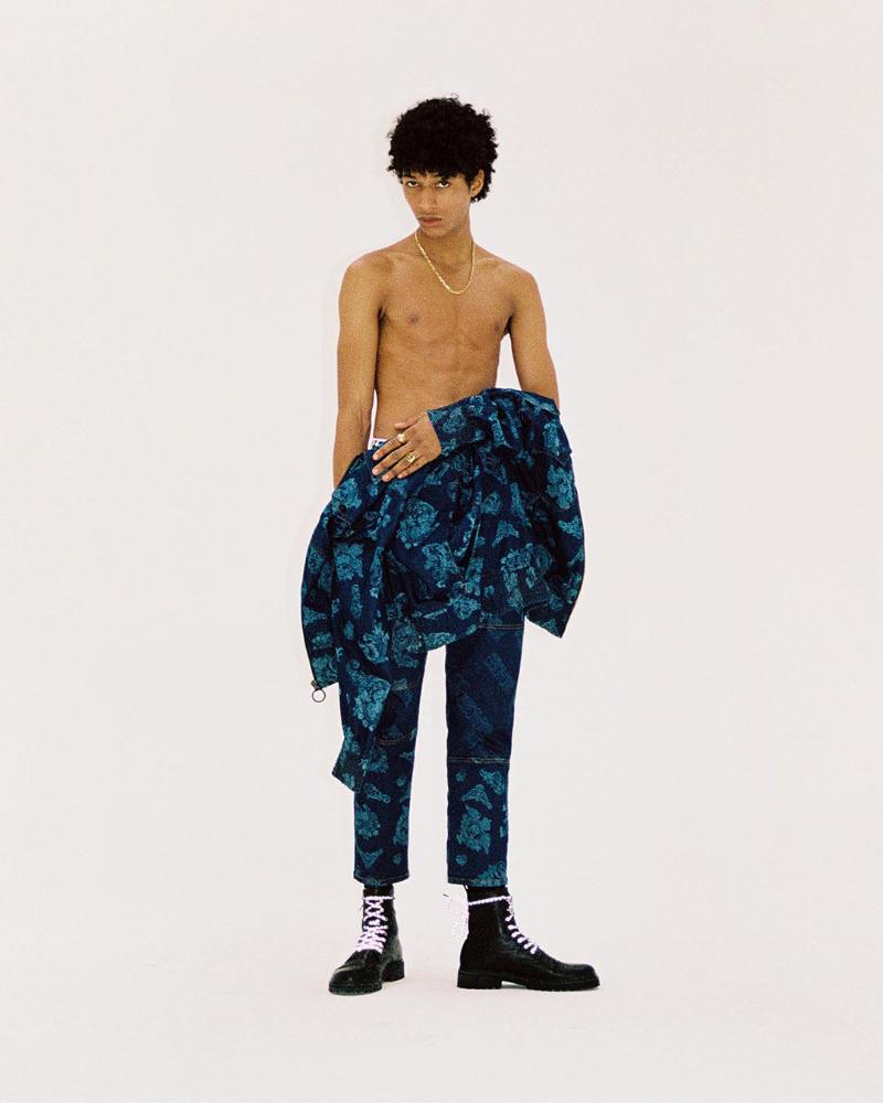 Versace Jeans Couture SS21 Denim Campaign Versace Jeans Couture SS21 Denim Campaign Vanity Teen 虚荣青年 Menswear & new faces magazine