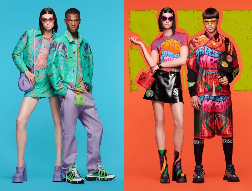 Versace Resort 2022 - Cheerful Colors and Psychedelic Vibes Versace Resort 2022 - Cheerful Colors and Psychedelic Vibes Vanity Teen 虚荣青年 Menswear & new faces magazine