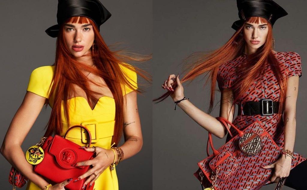Dua Lipa photoshoot in Versace Collaboration