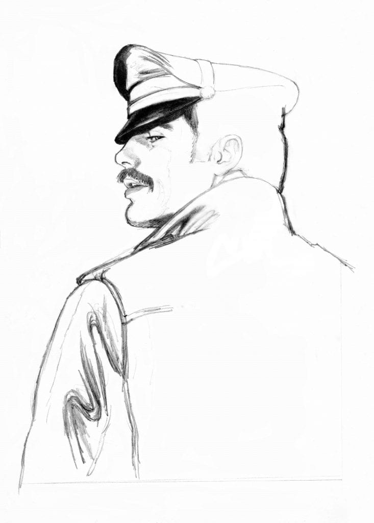 Tom of Finland, Untitled, 1977, Graphite on paper